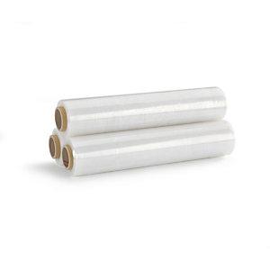 Bobine de film emballage étirable manuel cast - 45 cm x 300 m - Epaisseur 17 microns - Transparent (Lot de 6)