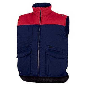 Bodywarmer met veel zakken, blauw. maat XXXL.