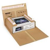Boekverpakking met beveiligde zelfklevende sluiting