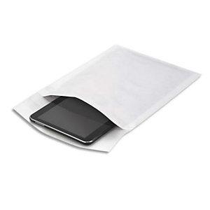 AUTRE Boîte de 100 pochettes matelassées en kraft Blanches bulles air format 22 x 26 cm