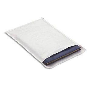 AUTRE Boîte de 100 pochettes matelassées en kraft Blanches bulles air format 24 x 33 cm