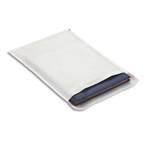 AUTRE Boîte de 100 pochettes matelassées en kraft blanches bulles air format 27 x 36 cm