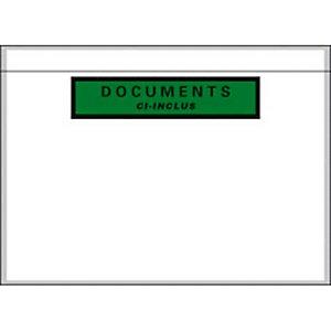 AUTRE Boîte de 1000 pochettes document ci-inclus recyclées format C5 22,8 x 16,5 cm transparent