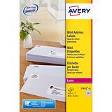 Boite de 1625 étiquettes laser  blanches L7651 format 38,1 x 21,2 mm Avery##Doos van 1625 witte laser etiketten L7651 formaat 38.1 x 21.2 mm Avery