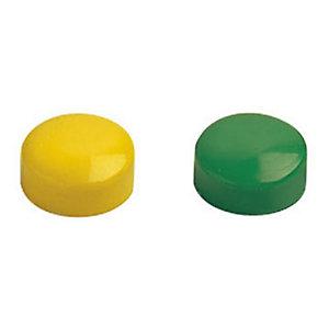 Boîte de 60 punaises aimantées - Ø 15 mm - Coloris assortis
