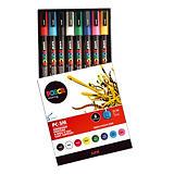 Boîte de 8 marqueurs peinture Uni-ball Posca coloris assortis