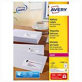 Boite de 840 étiquettes laser blanches L7160 format 63,5 x 38,1 mm Avery