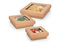 Boîte alimentaire carton avec couvercle séparé