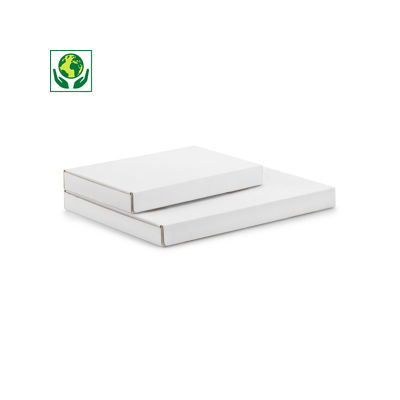 Boîte blanche pour boites aux lettres avec grande ouverture et fermeture adhésive