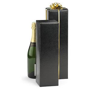 Boîte pour bouteille noire effet Lézard