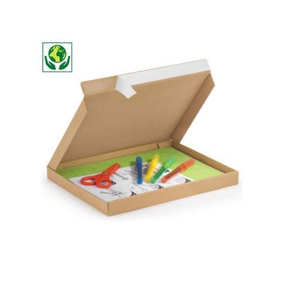 Boîte brune pour boites aux lettres avec grande ouverture et fermeture adhésive