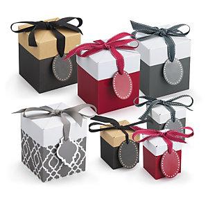 Image Boite Cadeau boîte cadeau avec ruban gros grain | raja