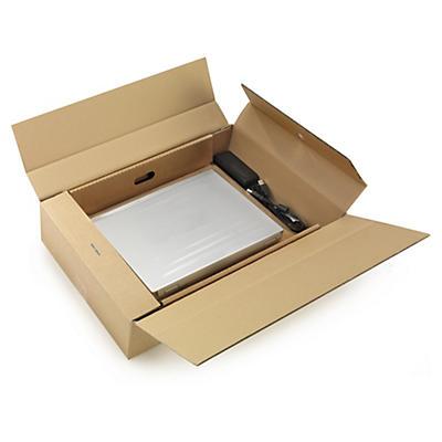 Boîte calage film pour ordinateur portable##Laptop Versandkarton mit Innenfixierung