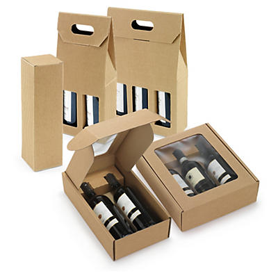 Boîte en cannelure apparente##Flaschenverpackung Natur