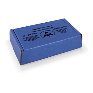 Boite carton blindée avec mousse antistatique
