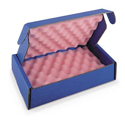 Boîte carton blindé avec mousse antistatique intégrée##Highshield Noppenschaum-Boxen