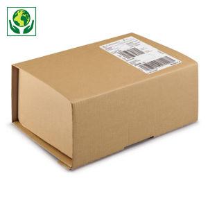 Boîte carton brune antichoc avec fermeture adhésive sécurisée RAJA