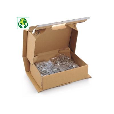 Boîte carton brune antichoc avec fermeture adhésive sécurisée