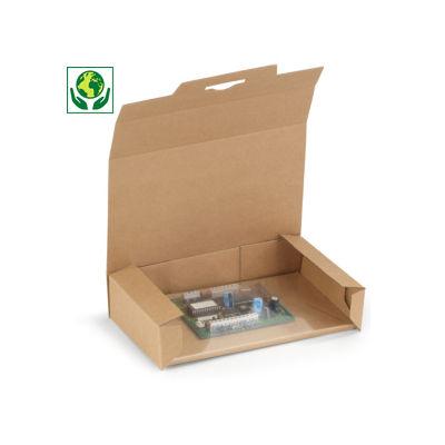 Boîte carton brune avec calage film antistatique intégré