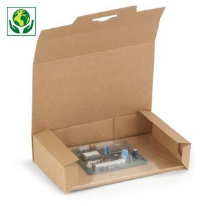 Boîte carton brune avec calage film intégré