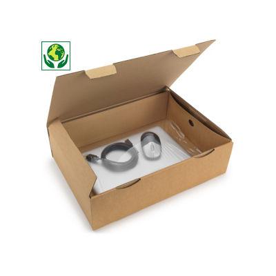 Boîte carton brune avec calage film