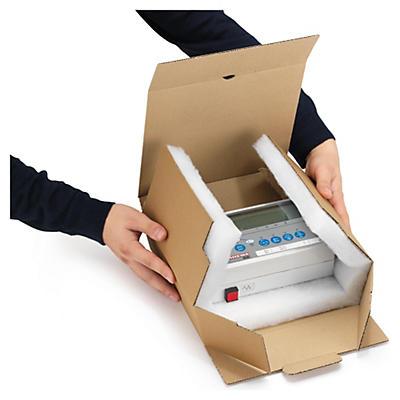 Boîte carton brune avec calage mousse 100% recyclé RAJA