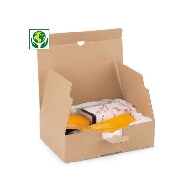 Boîte carton brune d'expédition à montage instantané 100% recyclé