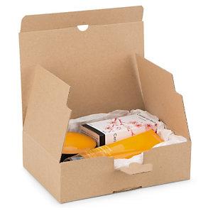 Boîte carton brune d'expédition à montage instantané recyclé