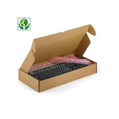 Boîte carton brune avec fermeture renforcée