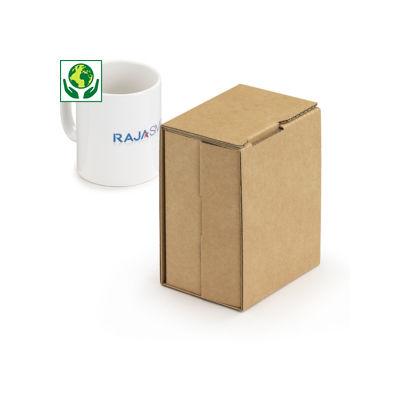Boîte carton brune pour mug avec calage carton intégré