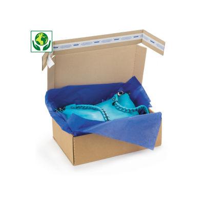 Boîte carton brune simple cannelure avec fermeture adhésive