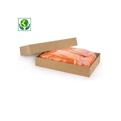 Boîte carton brune télescopique montage instantané