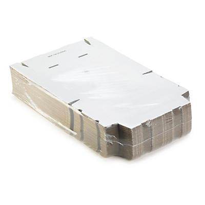 Boîte carton extra plate blanche avec fermeture adhésive format A4