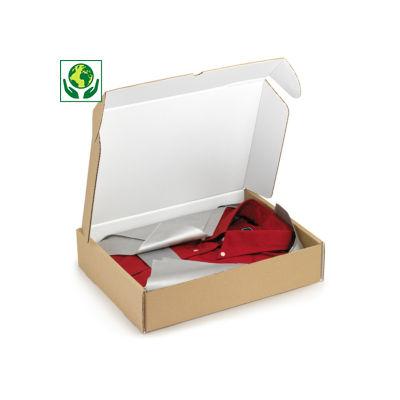 Boîte carton avec fermeture renforcée intérieur blanc