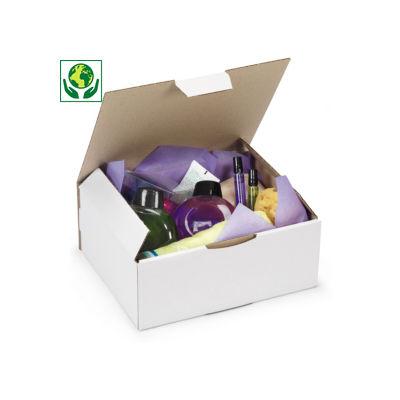 Boîte cartond'expédition simple cannelure blanche RAJAPOST
