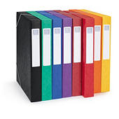 Boîte de classement en carte lustrée couleur