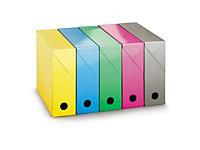 Boîte de classement carton brillant couleur