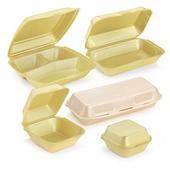 Boîte coque polystyrène snacking