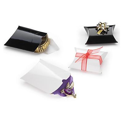 Boîte coussin pelliculée##Lackpapier-Kissenverpackung