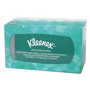 Boîte distributrice de 70 essuie-mains enchevêtrés Kleenex Ultra soft