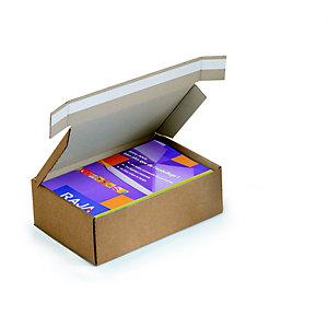 Boîte avec fermeture adhésive en carton simple cannelure brun - L.int. 31 x l.22 x H.15 cm