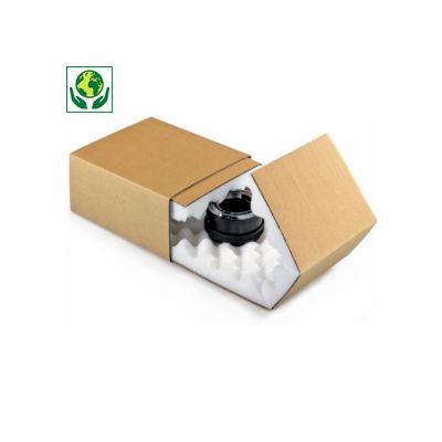 Boîte fourreau brune avec calage mousse RAJAPACK Mousse