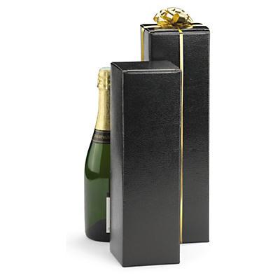 Boîte noire pour bouteille##Flaschenkarton-Geschenkkarton geprägt