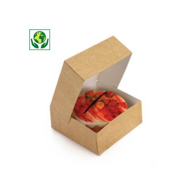 Boîte pâtissière kraft