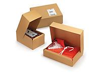 Boîte pliante carton brune mise en forme instantanée