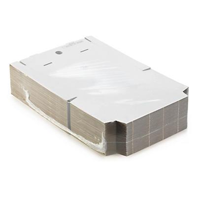 Boîte postale blanche en carton RAJAPOST format DIN A4##Versandkarton Flach-Pack, weiss