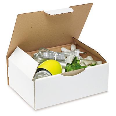Boîte postale blanche en carton RAJAPOST format DIN A5, A6 et A7##Postkartons RAJAPOST, weiss, DIN A5, A6, A7