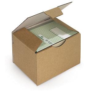 Boîte postale carton brune/blanche simple cannelure RAJAPOST formats A5/A6/A7