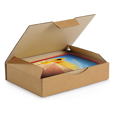 Boîte postale carton brune simple cannelure RAJAPOST formats A4/A4+