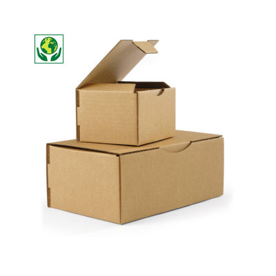 Boîte postale en carton brune##Bruine postdoos